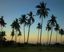Beautiful sunsets at Ifiele'ele Plantation - boutique, self-contained vacation rental in Samoa