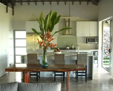 The Villa dining and kitchen - Ifiele'ele luxury self-catering holiday rental in Samoa