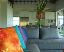Luxury furnishings in The Villa at Ifiele'ele Plantation boutique self-catering holiday rental
