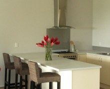 The Studio kitchen at Ifiele'ele Plantation luxury self-catering holiday rental in Samoa