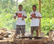 Prawns on the barbie at the fale Samoa - Ifiele'ele Plantation self-catering eco-retreat