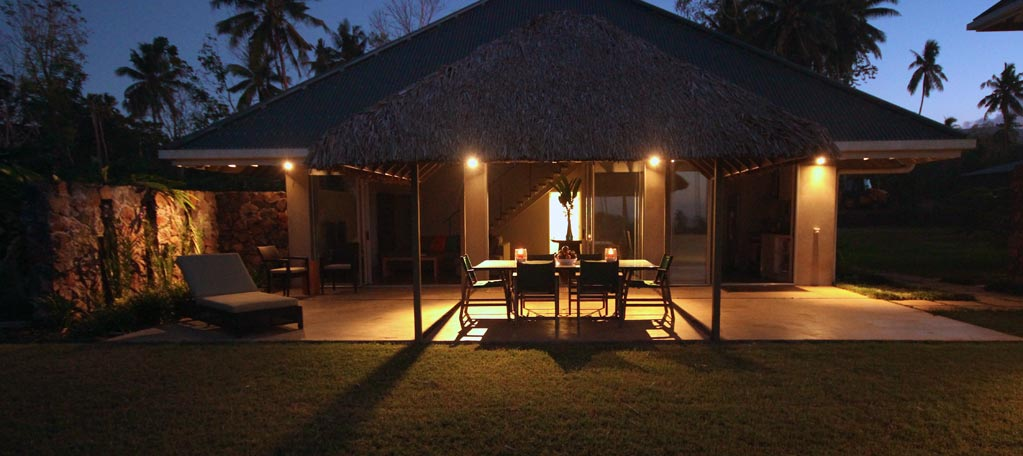 Villa Front Deck by Night