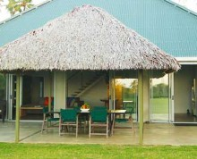 The Villa front view at Ifiele'ele Plantation boutique, self-catering vacation rental in Samoa